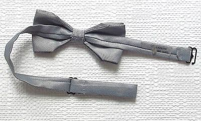 Vintage silver striped bow tie collar sizes 13 14 15 16 17 18 inch neck 1980s